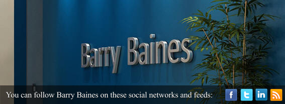 Barry Baines Sign